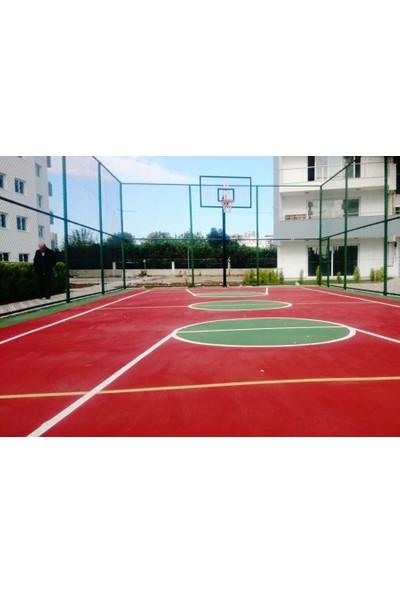 Basketbol Potası Sabit Çember, 105*180 15 mm Cam Panya 114/4 Tek Direk Boru