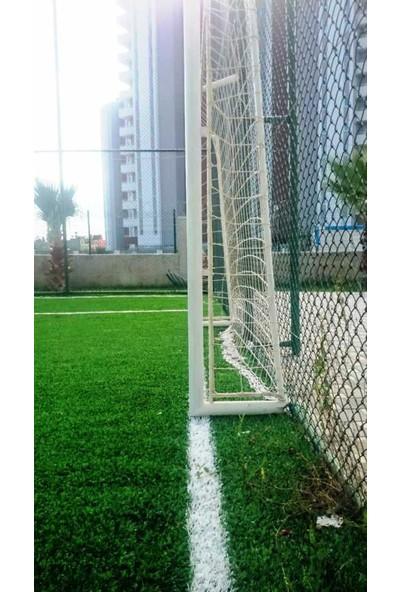 Futbol Kale Filesi 2,5 mm Kord İp 3,2*2,20*0,8 m , 12,5*12,5 Göz Genişliği Beyaz