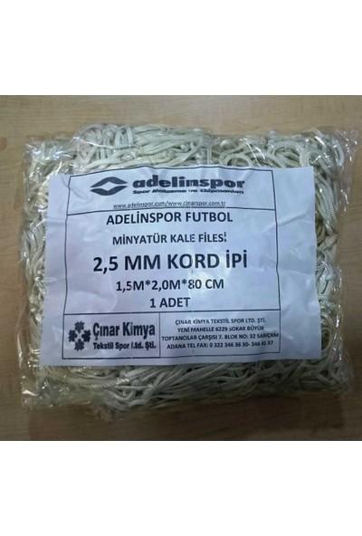 adelinspor Minyatür Kale Filesi 150/200/80Cm 10*10 Göz 2,5 Mm Renkli
