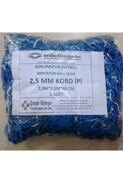 adelinspor Minyatür Kale Filesi 200/250/80Cm 10*10 Göz 2,5 Mm Renkli