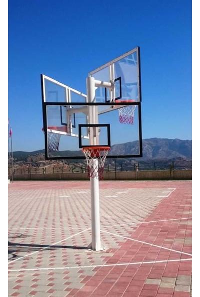 Basketbol Potası Üçlü Grup Standart Yükseklik 10 mm Cam, 105*180 Akrilik Cam Panya 45 cm Sabit Çember
