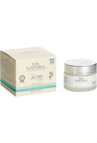 Iva Natura Sertifikalı Organik Akne Karşıtı Krem (Kara Kafes Otu, Ardıç Yaprağı Özlü Akne Kremi) 50 ML