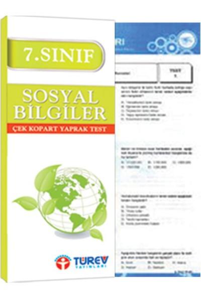 Türev Yayınları 7. Sınıf Sosyal Bilgiler Çek Kopart Test