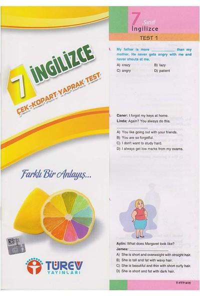 Türev Yayınları 7.Sınıf İngilizce Çek Kopart
