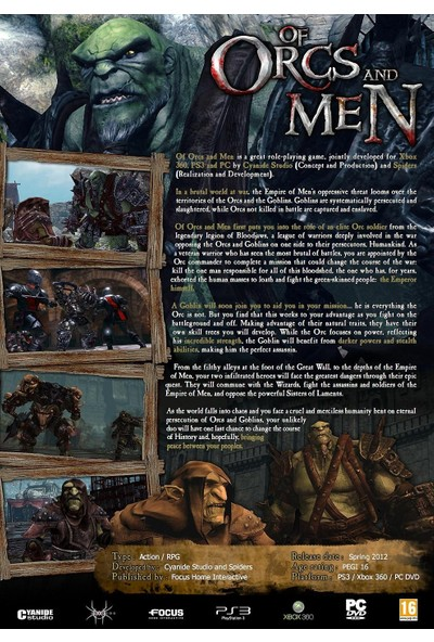 Of Orcs And Men PS3