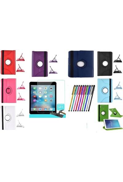 Mustek apple iPad Air 2 360 Dönerli Tablet Kılıf+9H Kırılmaz Cam+Kalem