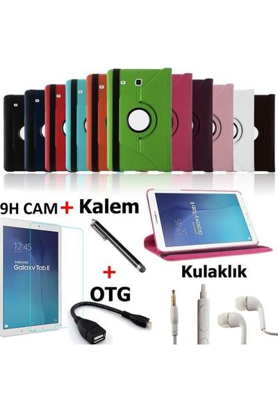 Mustek samsung Tab T110/T113/T116 360 Dönerli Tablet Kılıf+9H Kırılmaz Cam+Kalem+Otg Kablo+Kulaklık