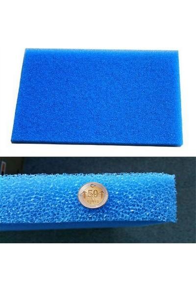 Amazon Akvaryum Filtre Süngeri Kalın Gözenekli Mavi 10 PPI 50x40x5 cm