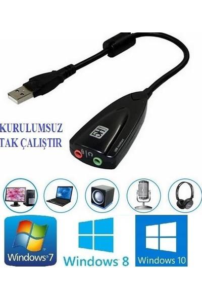 Alfais 4687 7.1 USB to Audio Çevirici Harici Ses Kartı