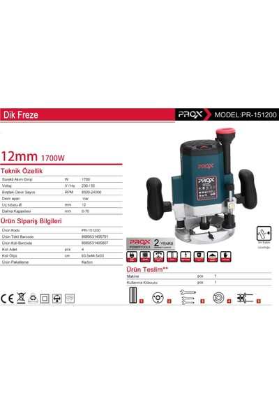 Prox 12 Mm 1700 Watt Dik Freze