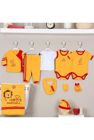 İmaj 155 Sarı Kırmızı Taraftar Bebek Hastane Çıkış Seti 10'lu