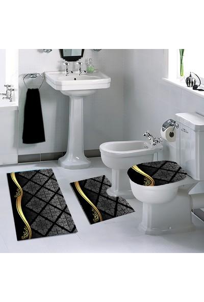 Melay Altın Dalgası Banyo Paspas Klozet Set