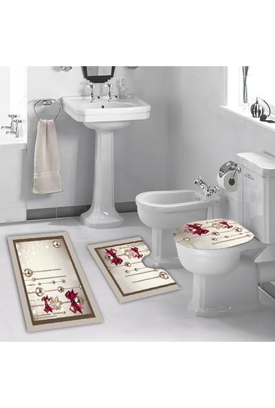 Melay Kurdelalı İnciler Banyo Klozet Set