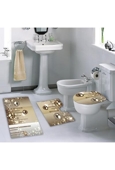 Melay Degradeli İnci Diyarı Banyo Klozet Set