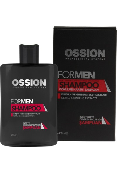 Ossion Formen Saç Dökülmesine Karşı Şampuan 400 Ml