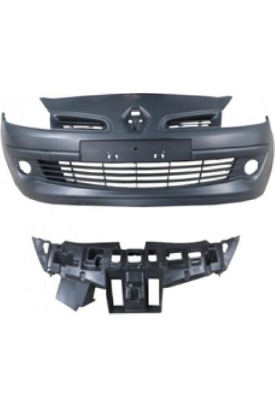 Ypc Renault Clio- Hb- 06/09 Ön Tampon Siyah Sis Delikli Kendinden Bandlı (Panjur İç Braketi İle Birlikte