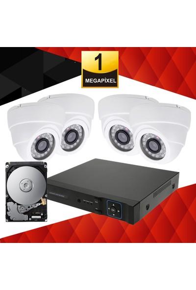 Walkertone Ahd Güvenlik Kamera Seti.4 Kameralı 1 Mp İç Mekan Kur Çalıştır