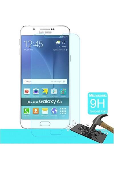 Letstur Samsung Galaxy A8 Temperli Cam Ekran Koruyucu Film