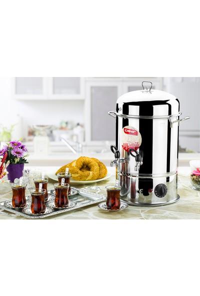 Çakır Mutfak 120 Bardak Endüstriyel Çay Otomatı (Metal Musluklu)
