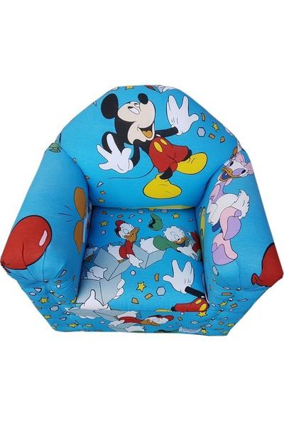 Sezer Toys Çocuk Ahşap Koltuk Mickey