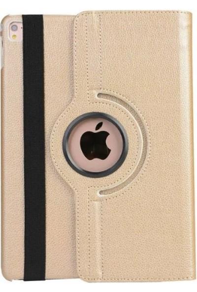 Nokta Apple iPad 3 360° Dönebilen Standlı Gold Kılıf