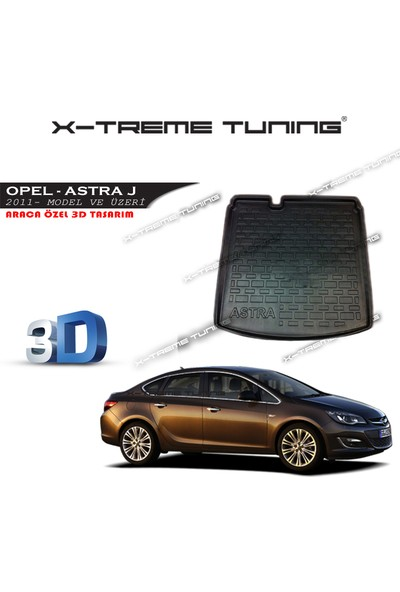 Xt Opel Astra J Sedan Bagaj Havuzu 3D Tasarım