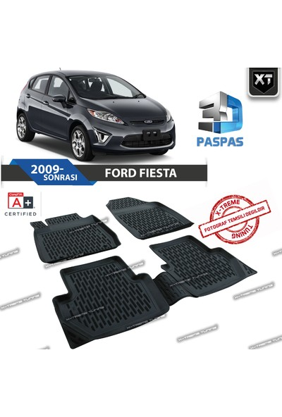 Xt Ford Fiesta 2009- Sonrası 3D Havuzlu Paspas