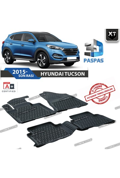 Xt Hyundai Tucson 2015- Sonrası 3D Havuzlu Paspas