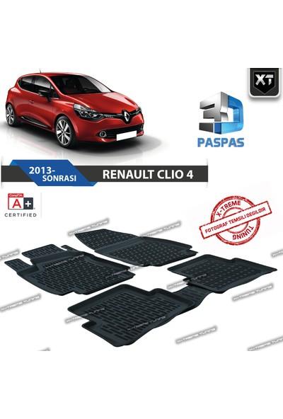 Xt Renault Clio 4 3D Havuzlu Paspas 2013- Sonrası