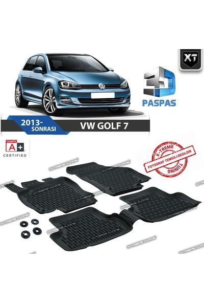 Xt Vw Golf 7 2013- Sonrası 3D Havuzlu Paspas
