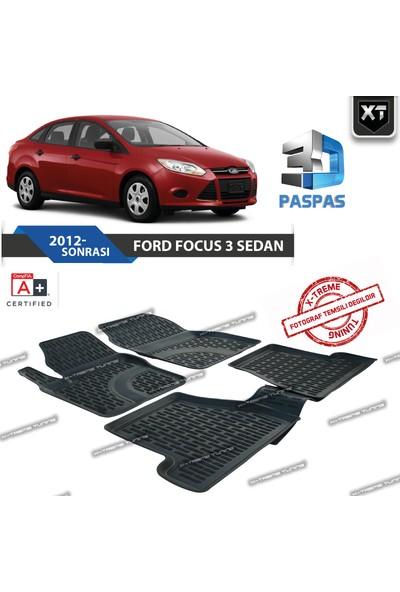 Xt Ford Focus 3 Sedan 2012- Sonrası 3D Havuzlu Paspas