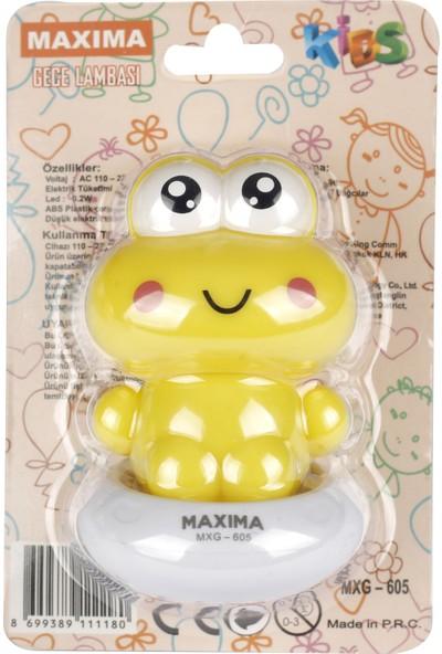 Maxima MXG-605 LED Kurbağa Gece Lambası - Düğmeli