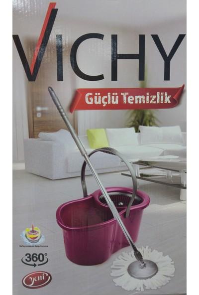 Vichy 360 Derece Dönebilen MikroFiber Mop Paspas ve Temizlik Kovası