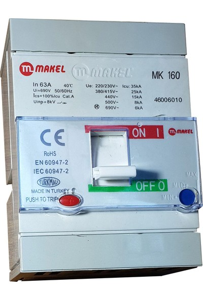 Makel Kompakt Şalter 3X63 A.