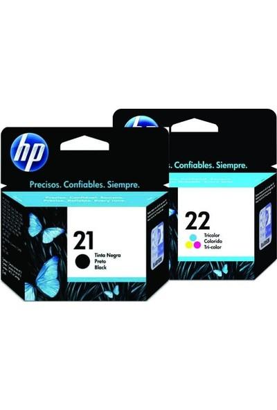 Hp (C9351Ae/C9352Ae) 21 Ve 22 Siyah Ve Renkli Kartuş