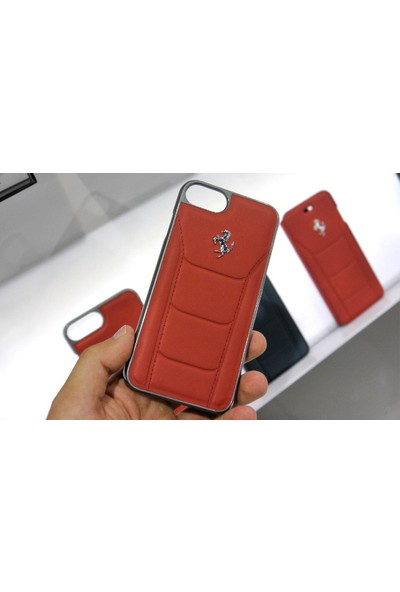 Ferrari Apple iPhone 7 Kılıf 488 Genuine Leather Hard