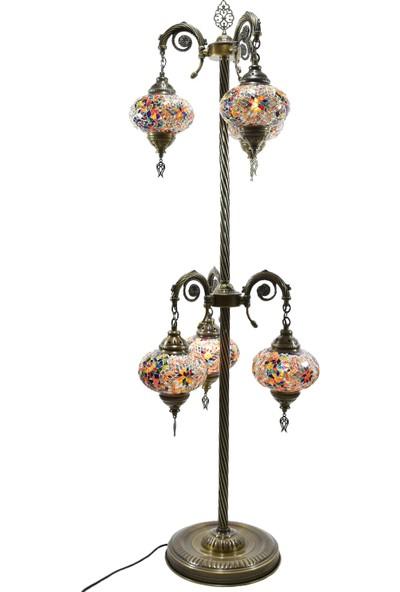 Sevenbazaar Dekoratif Cam Mozaik Osmanlı Lambader 6'Lı Lamba 06