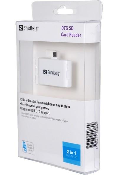 Sandberg OTG Card Reader USB Kart Okuyucu - 440-80