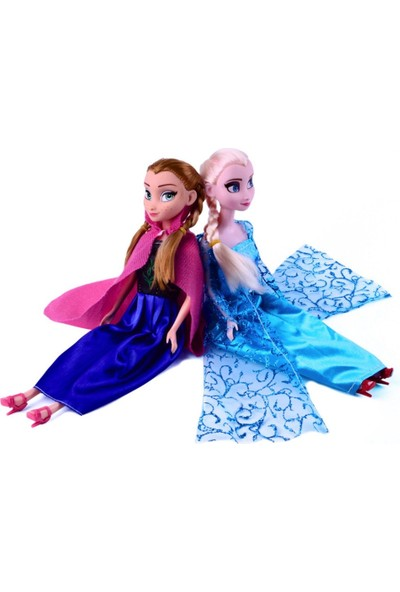 Disney Frozen Karlar Ülkesi Anna Ve Elsa Oyuncak Et Bebek 30Cm