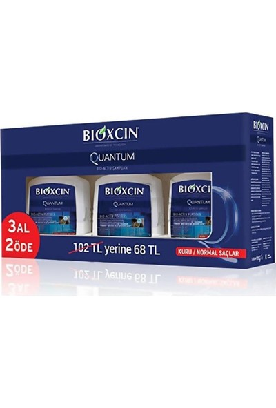 Bioxcin Quantum 3Al 2Öde ( Kuru / Normal Saç )