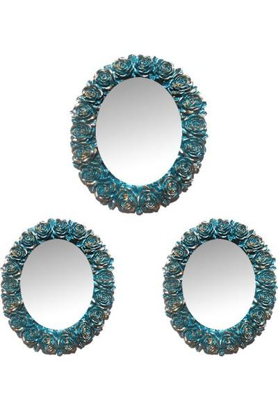 Decotime Çiçekli Ayna Takımı