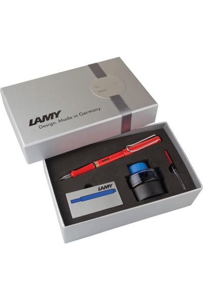 Lamy Safari 16Ds-M Kırmızı Dolma Kalem Seti