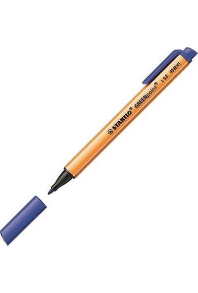 Stabilo Greenpoint 6088 Keçe Uçlu Kalem Renk - Mavi