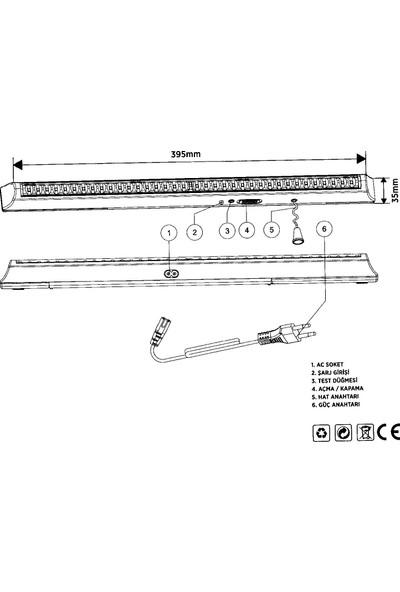 Cata Ct-9946 36 Ledli Şarjlı Işıldak
