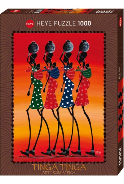 Heye 29783 Porters - African Art (1000 Parça Puzzle)