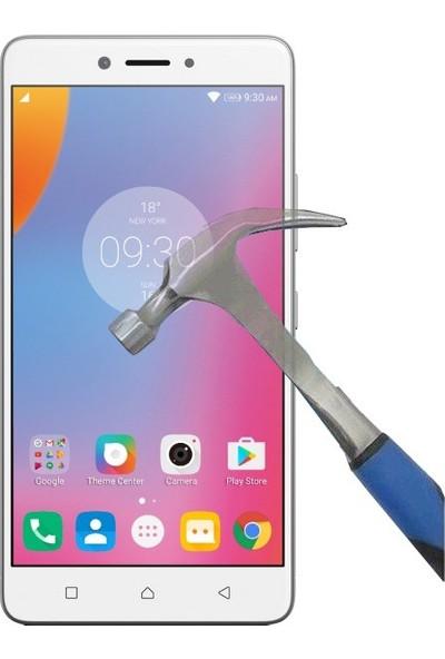 Teleplus Lenovo K6 Note Plastik ve Cam Ekran Koruyucu Karışımı Cam Ekran Koruyucu