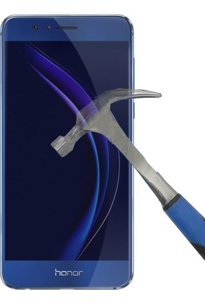 Teleplus Huawei Honor 8 Plastik ve Cam Ekran Koruyucu Karışımı Cam Ekran Koruyucu