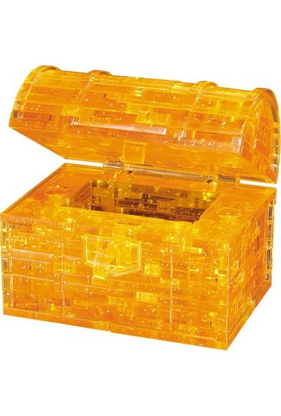 Crystal Puzzle Sarı Şeffaf Hazine Sandığı