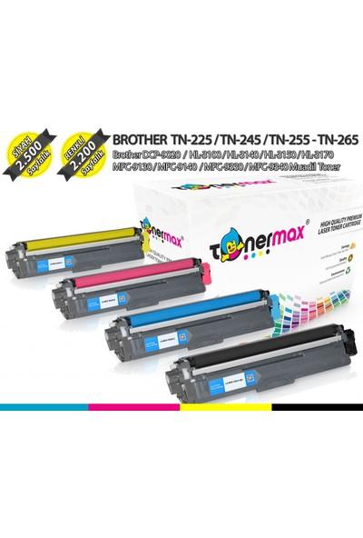 Toner Max® Brother TN-225 / TN-245 / TN-255 / TN-265 / HL-3140 / HL-3150 / HL-3170 / DCP-9020 Muadil Toneri
