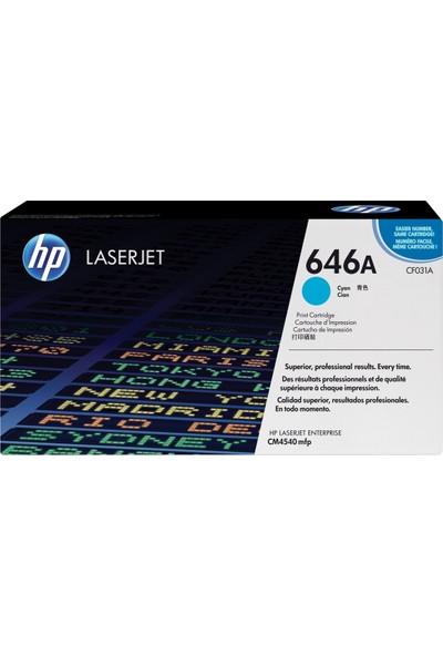 HP 646A / CF031A / CM4540 Mavi Orjinal Toner